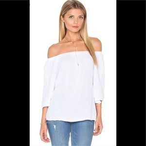 Michael stars white cotton off the shoulder top